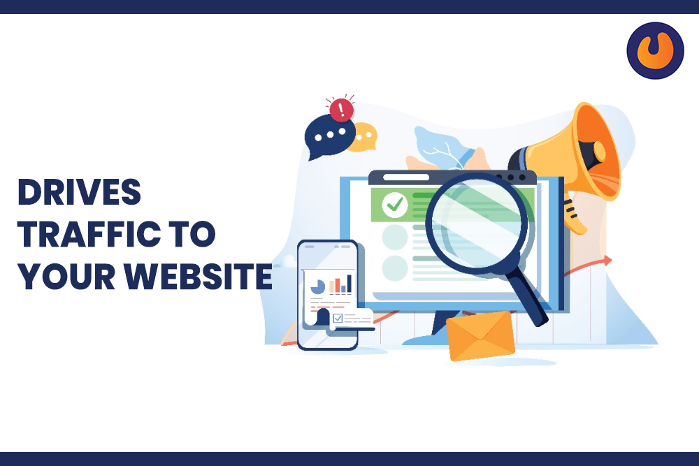 Drives Traffic to Website