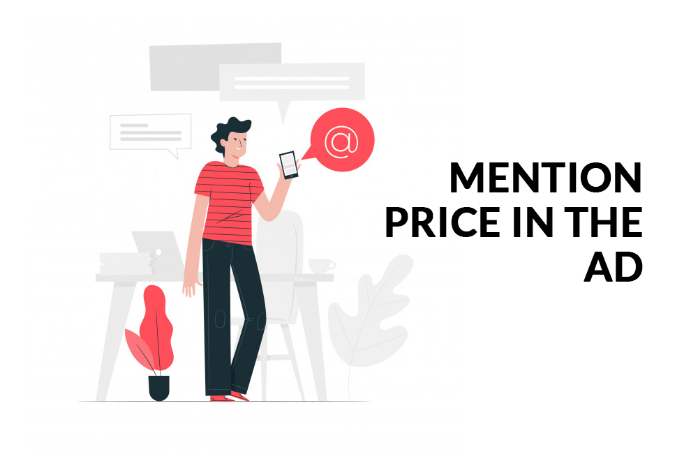 Mention price in Ad