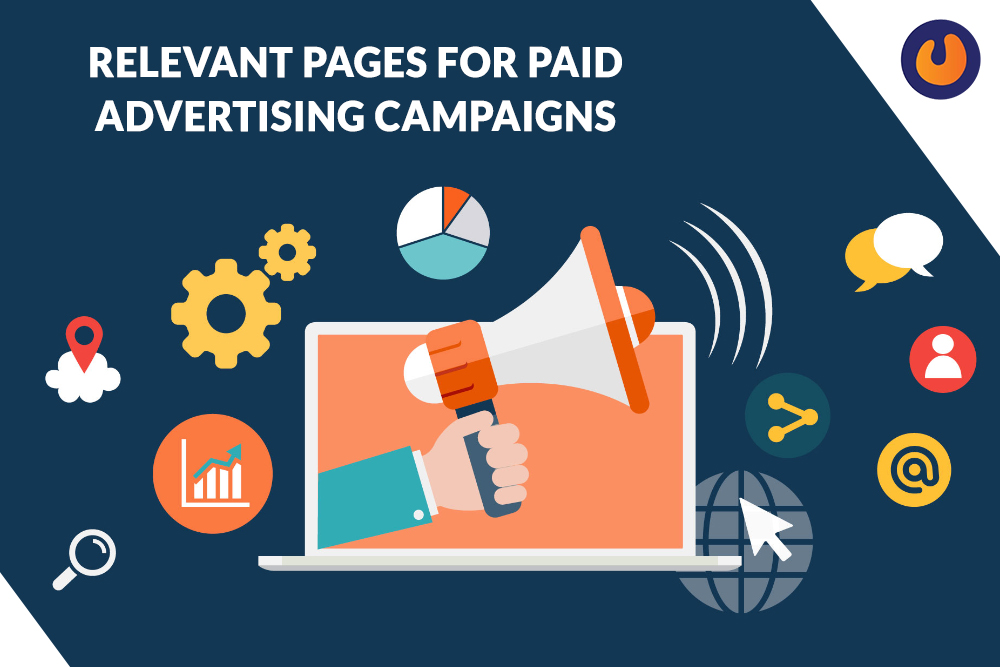 Relevant pages for paid advertising campaigns