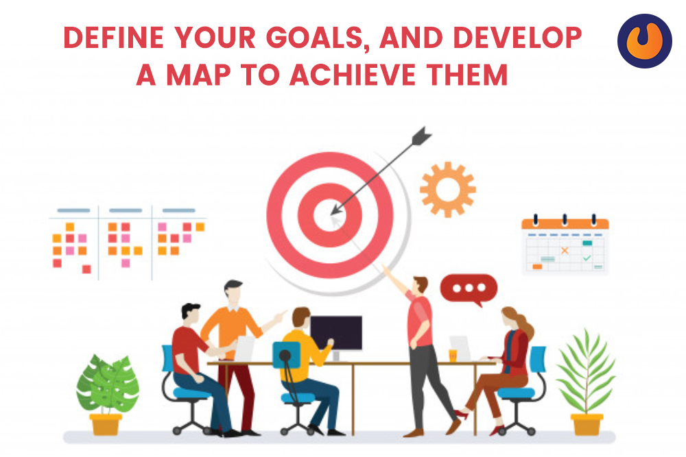 set your goals and develop a map to achieve them