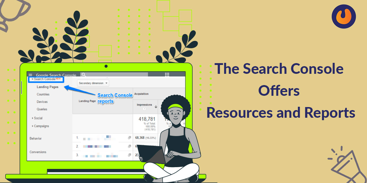 search console offers resource and reports