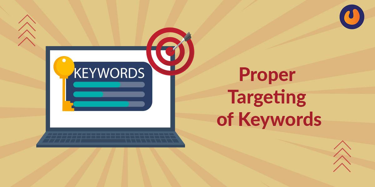 proper targeting of keywords