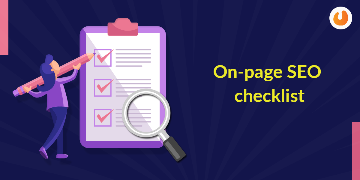 On page checklist