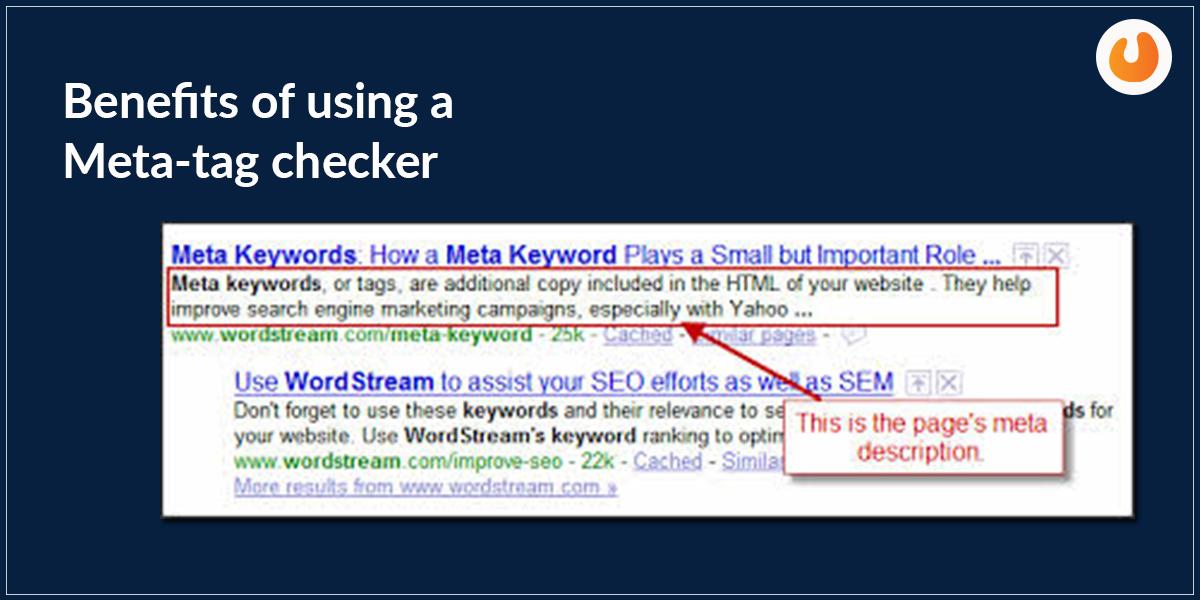 Benefits of Meta Tag checker