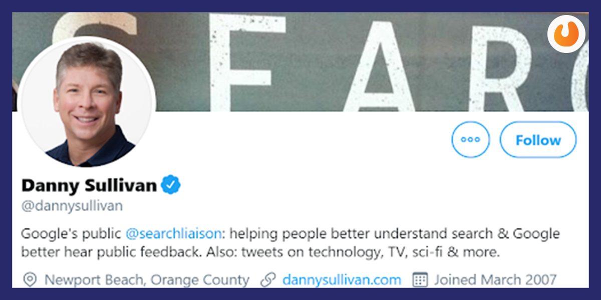 Danny Sullivan SEO Twitter Handle