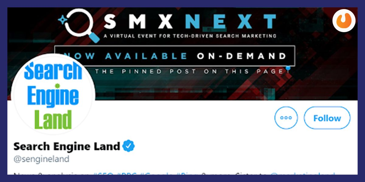 Search Engine Land SEO Twitter Handle