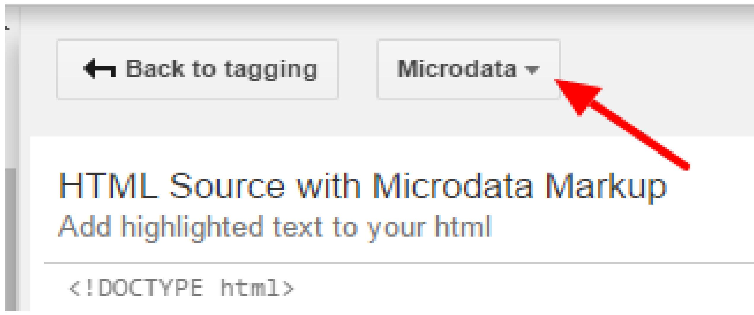 Microdata Tab